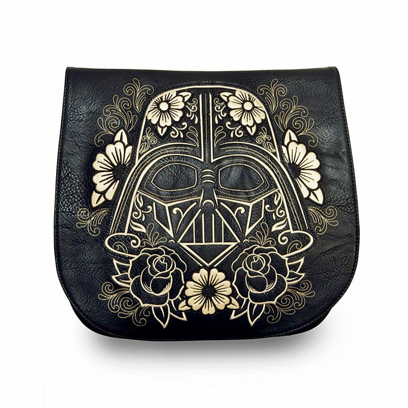 Star Wars Darth Vader Gold Sugar Skull Crossbody Bag by Loungefly