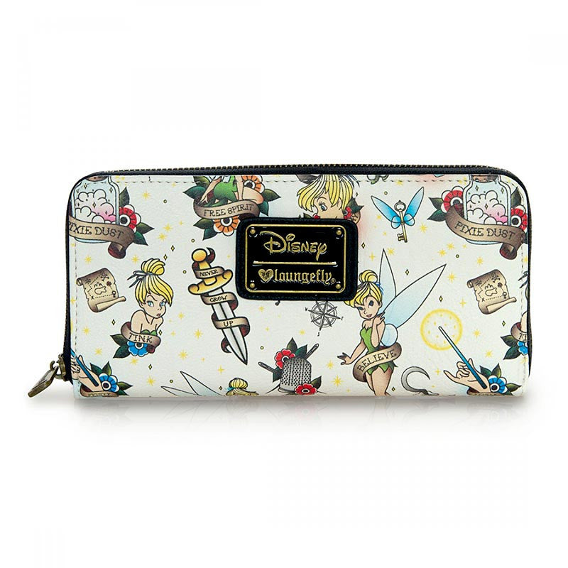 Disney Tinkerbell Wallet with Tattoo-Inspired Print by Loungefly