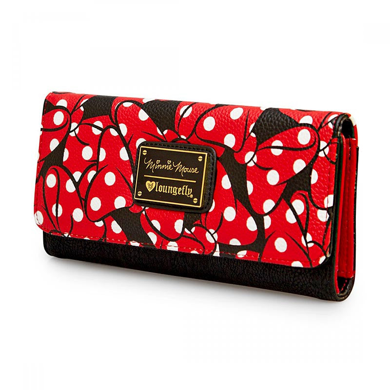 Disney Minnie Mouse Wallet - Bows Pattern Trifold by Loungefly