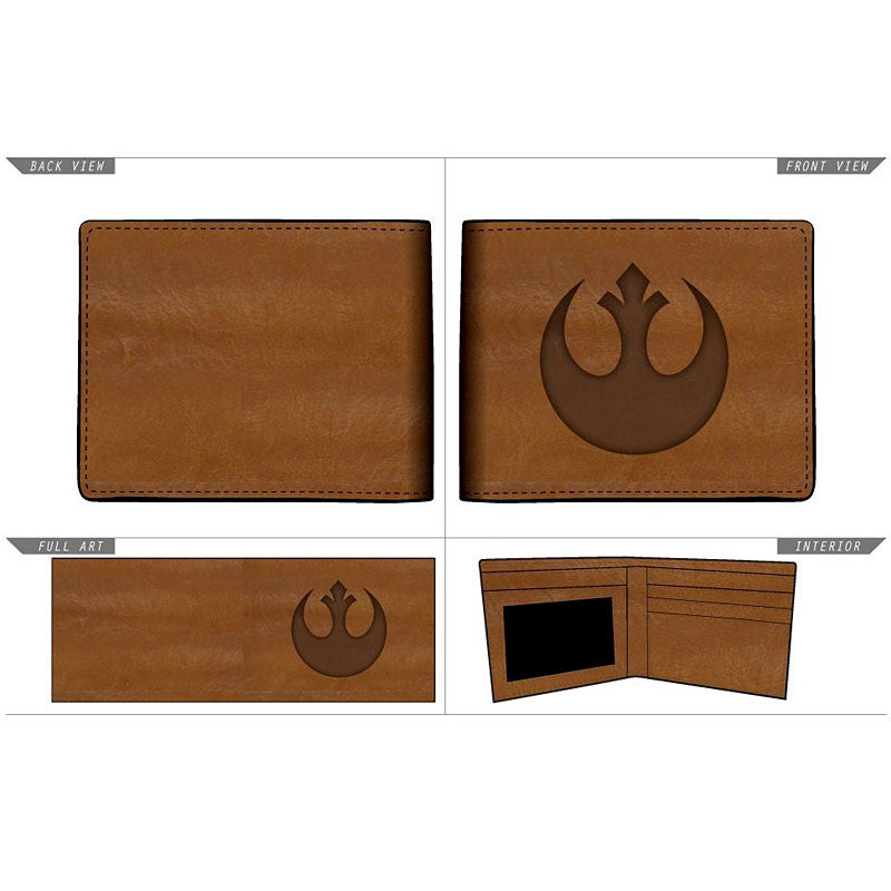 Star Wars Leather Wallet - Rebel Alliance Bifold