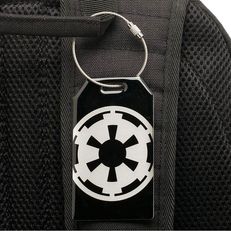 Star Wars Bag Tag - Aluminum Imperial Empire Graphic
