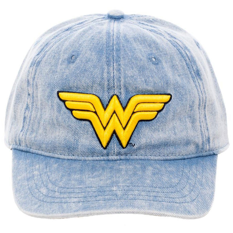 Wonder Woman Washed Denim Ball Cap
