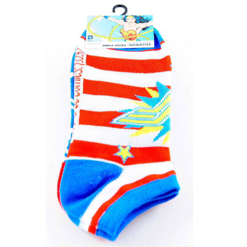 Wonder Woman Socks - 2 Pack of Ankle Socks