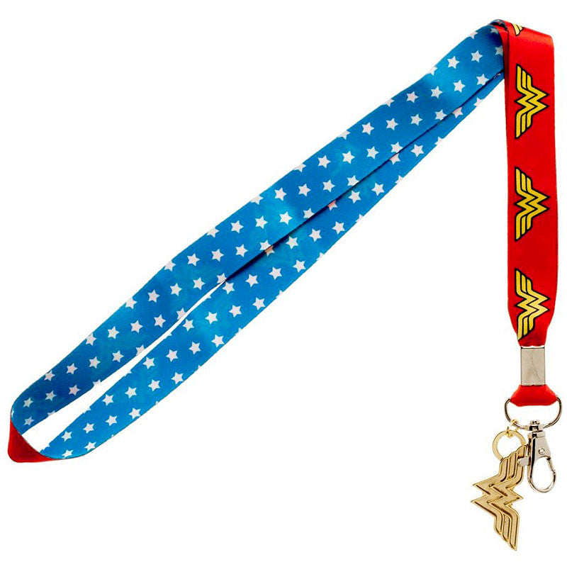 Wonder Woman Lanyard with Metal Charm