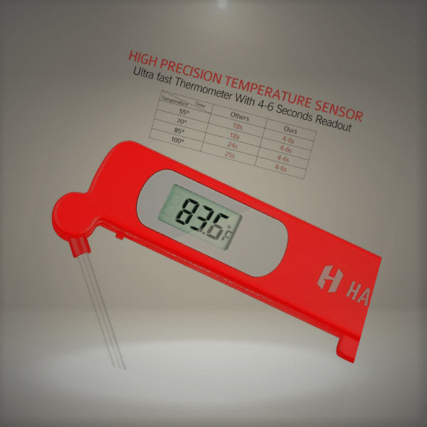Habor Instant Read Meat Thermometers, Super Fast Accurate Cooking  Thermometer Electronic Kitchen Thermometers With Digital LCD, Fordable Long  Probe For Food ...