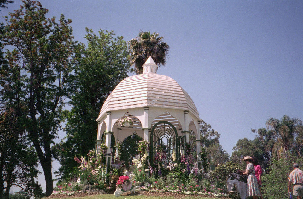Octagon Gazebo with Type O 1 x 3 Dome Roof, Cupola, Gothic Arch Panels, Classic Posts. 12-foot - SamsGazebos Made to Order