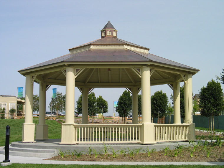 Octagon Gazebo With Cupola Composite Shingle Roof Two