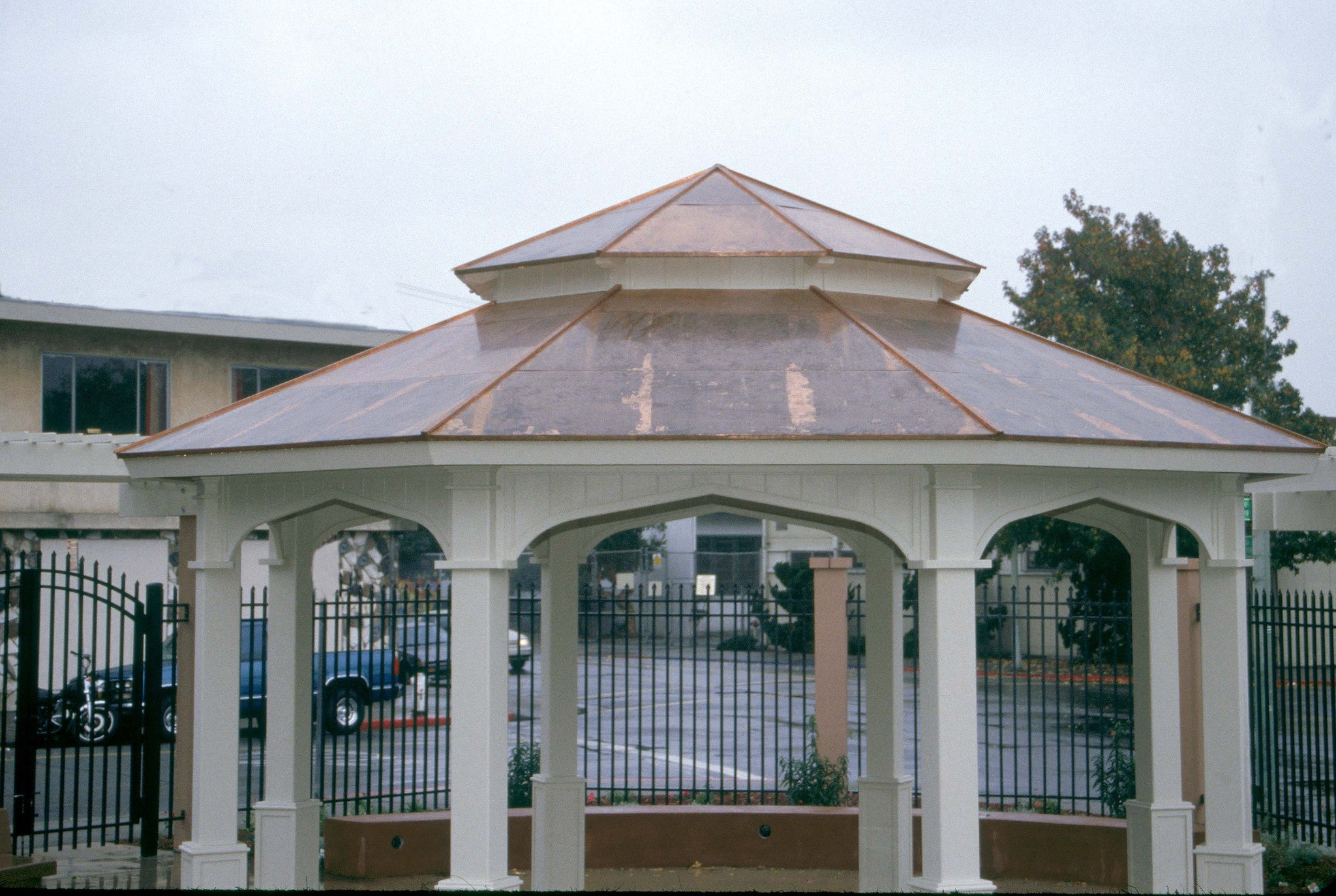 Parks U0026 Recreation   Octagon Gazebo With Type E Pagoda Style Copper Roof,  Gothic Arch ...