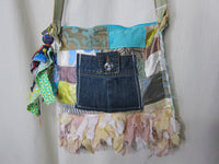 Silk Flower Patchwork Handbag