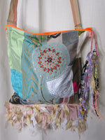 Patchwork Silk Handbag