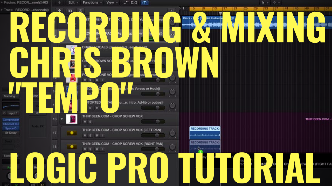 "Vocal Effect Tutorial - Recording & Mixing Chris Brown ""TEMPO"" Vocals 