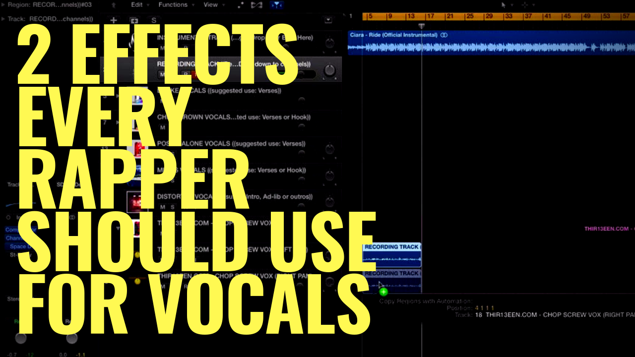 2 Effects Every Rapper Should Use For Vocals