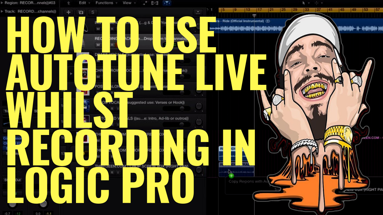 How To Use AutoTune Live whilst Recording In Logic Pro (Without Latency Issue)