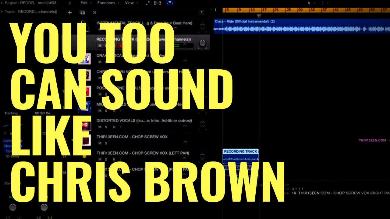 You Too Can Sound Like Chris Brown - Logic Pro X
