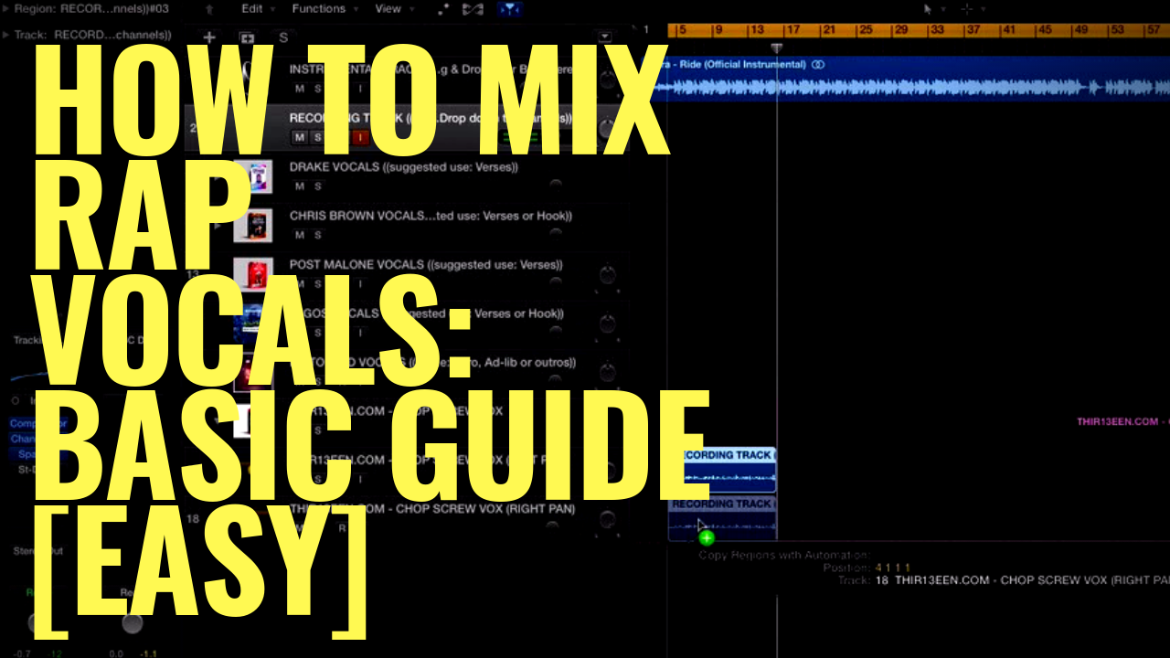 How To Mix Rap Vocals: Basic Guide [EASY]