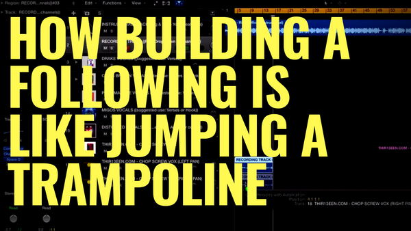 How Building A Following is like Jumping on a Trampoline