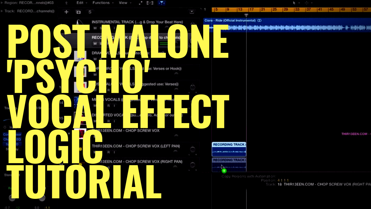 POST MALONE - 'PSYCHO' VOCAL EFFECT LOGIC TUTORIAL