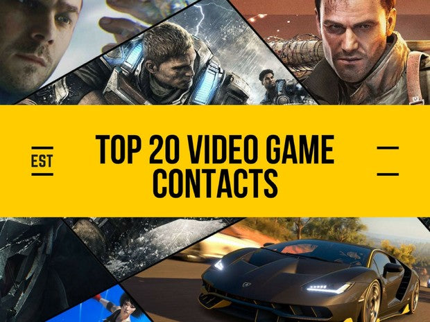 Top 20 Video Game Contacts List