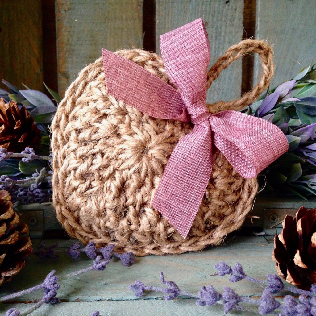 Crocheted Hanging Heart - Lavender Filled