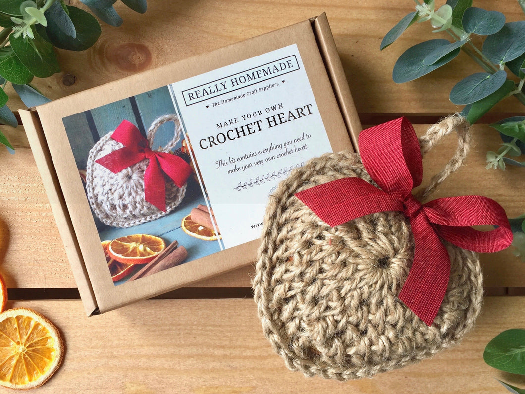 Make Your Own Crochet Heart Kit - Filled with Dried Oranges