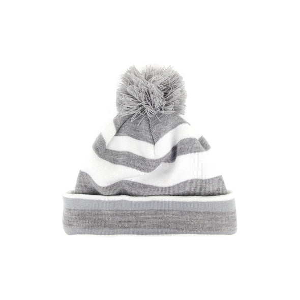 GreenRabbit Golf, J. Lindeberg, Stripe Golf Beanie Stone Grey Melange, Cap - GreenRabbit Golf GOLFFASHION & LIFESTYLE