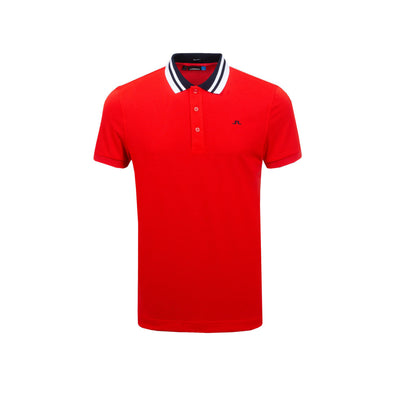 GreenRabbit Golf, J. Lindeberg, M Patrick Reg Cool Pique Racing Red, Shirt - GreenRabbit Golf GOLFFASHION & LIFESTYLE