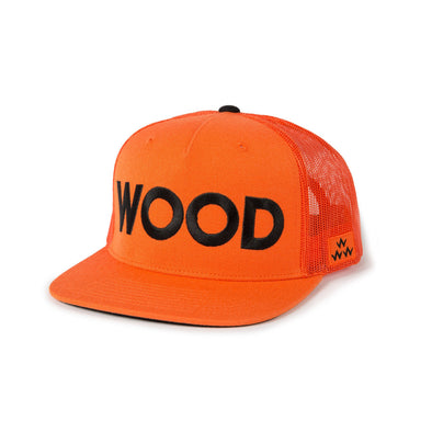 GreenRabbit Golf, Birds of Condor, Wood Trucker Snapback Orange, Cap - GreenRabbit Golf GOLFFASHION & LIFESTYLE