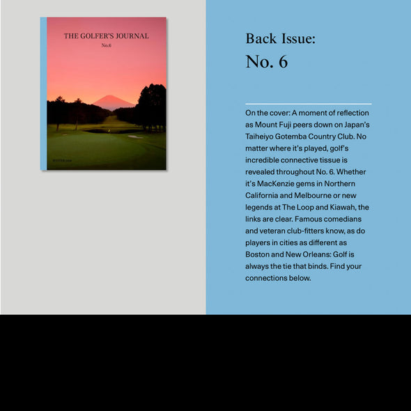 GreenRabbit Golf, The Golfers Journal, The Golfers Journal No. 6, Magazin - GreenRabbit Golf GOLFFASHION & LIFESTYLE