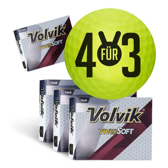 "GreenRabbit Golf, Volvik, Volvik Vivid Soft - Bundle ""4 für 3"", Balls - GreenRabbit Golf GOLFFASHION & LIFESTYLE"