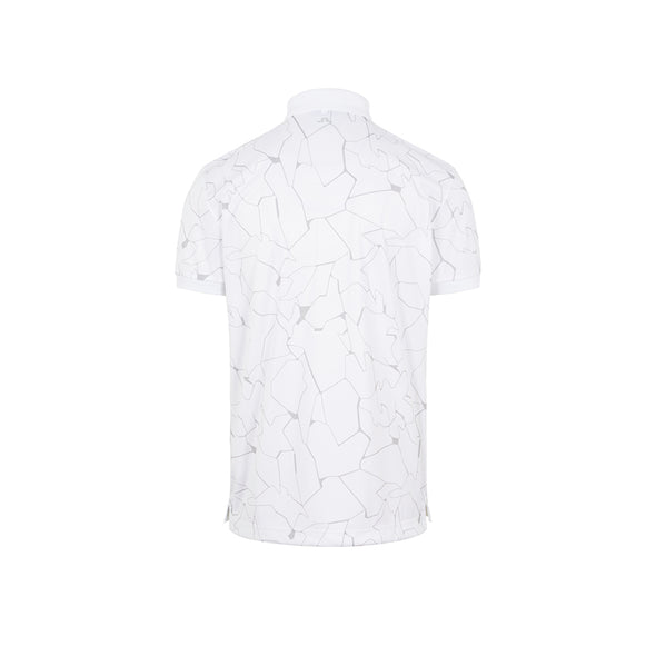 Tour Tech Reg Fit Print Polo Slit White