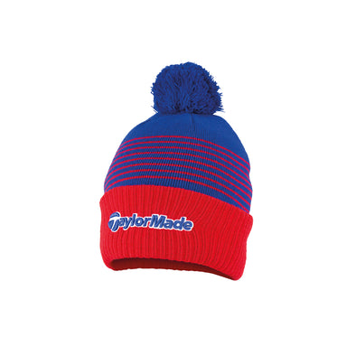 Bobble Beanie Red/Blue