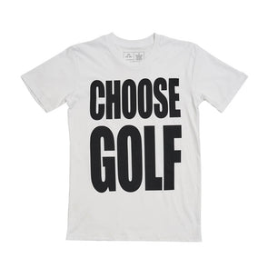 CHOOSE GOLF Tee White