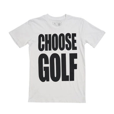 GreenRabbit Golf, Birds of Condor, CHOOSE GOLF Tee White, T-Shirt - GreenRabbit Golf GOLFFASHION & LIFESTYLE