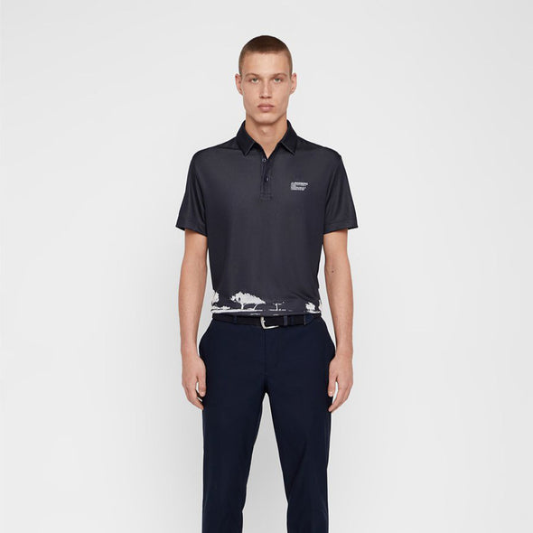 GreenRabbit Golf, J. Lindeberg, M Nash Reg Fit TX Jaquard JL Navy / White, Shirt - GreenRabbit Golf GOLFFASHION & LIFESTYLE