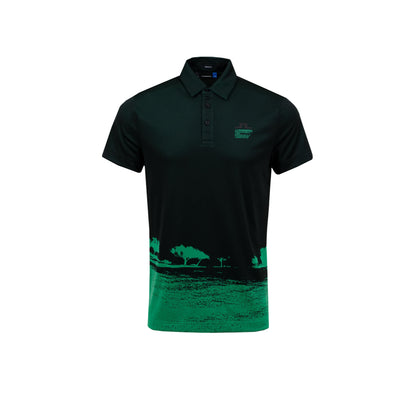 GreenRabbit Golf, J. Lindeberg, M Nash Reg Fit TX Jaquard Black / Stan Green, Shirt - GreenRabbit Golf GOLFFASHION & LIFESTYLE