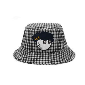GreenRabbit Golf, Malbon by Lyle & Scott, Malbon Bucket Hat Houndstooth, Cap - GreenRabbit Golf GOLFFASHION & LIFESTYLE