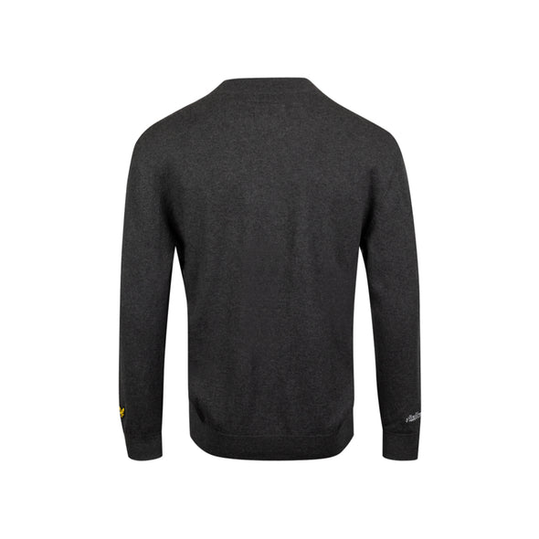 GreenRabbit Golf, Malbon by Lyle & Scott, Malbon x L&S Knitted Crewneck Sweater Charcoal, Shirt - GreenRabbit Golf GOLFFASHION & LIFESTYLE