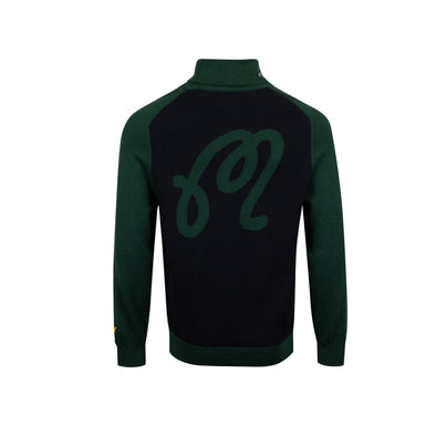 GreenRabbit Golf, Malbon by Lyle & Scott, Malbon x L&S Rollneck Sweater Jade Green, Shirt - GreenRabbit Golf GOLFFASHION & LIFESTYLE