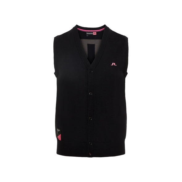 GreenRabbit Golf, J. Lindeberg, M Edmund Archived Pima Cotton Black, Pullunder - GreenRabbit Golf GOLFFASHION & LIFESTYLE