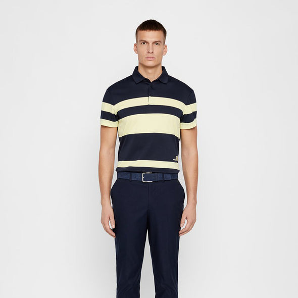 GreenRabbit Golf, J. Lindeberg, M Malte Reg Fit Club Pique Still Yellow / JL Navy, Shirt - GreenRabbit Golf GOLFFASHION & LIFESTYLE
