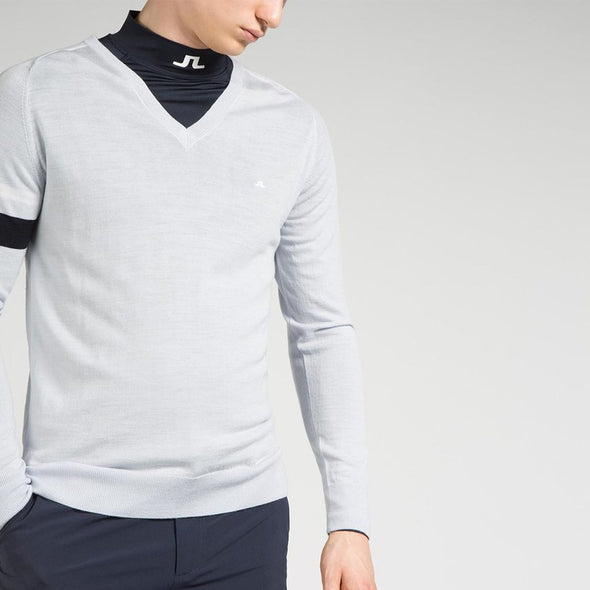 GreenRabbit Golf, J. Lindeberg, Kristoffer Sweater Merino Stone Grey, Sweater - GreenRabbit Golf GOLFFASHION & LIFESTYLE