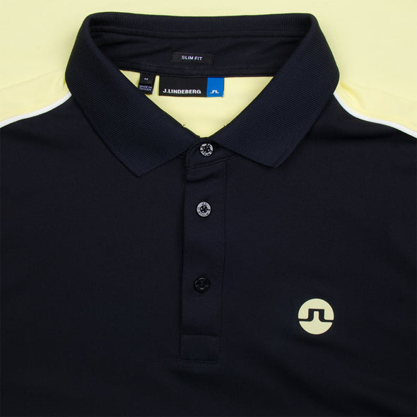 GreenRabbit Golf, J. Lindeberg, Tane Slim TX Troque Black, Shirt - GreenRabbit Golf GOLFFASHION & LIFESTYLE