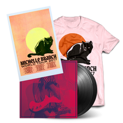 2017 Vinyl Tour Bundle #2 - Ladies Pink Cat Tee