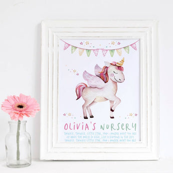 Unicorn Pegacorn Girls Gift Print