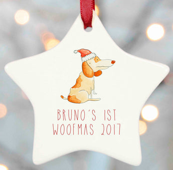 Dog Christmas Tree Decoration Personalised