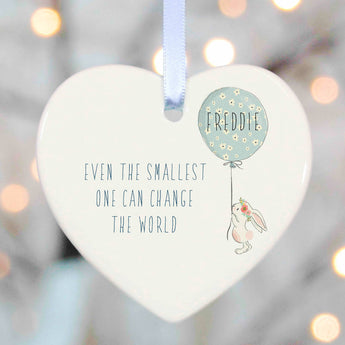 Christening Gifts Girls Boys Heart - Even the smallest can change the world