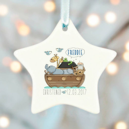 Christening Gifts Boys Girls Noah Ark Ceramic Star