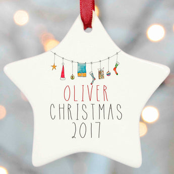 Personalised Tree Decoration Christmas