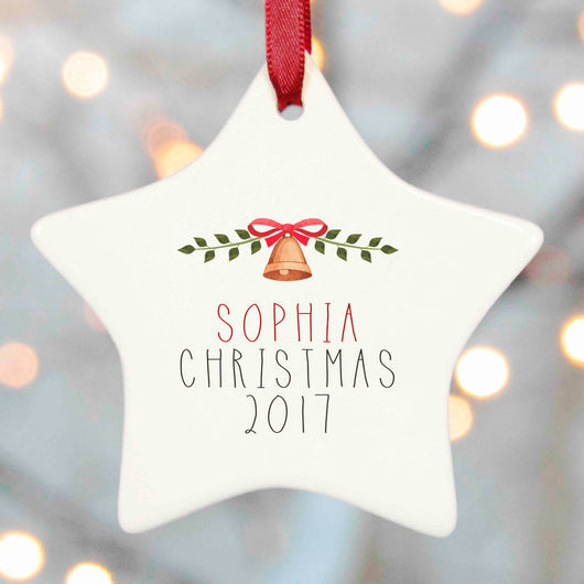 Personalised Tree Decoration Christmas - Bell