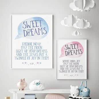 Sweet Dreams Bedroom Print